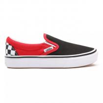 vans slip-on comfycush checkerboard/ black/ red