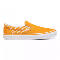 vans classic slip-on logo repeat/ cadmium yellow