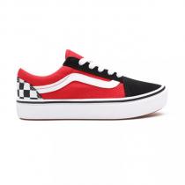 vans old skool comfycush checkerboard/ black/ red